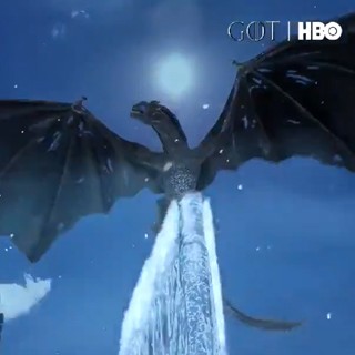 Game Of Thrones Ice Dragon Snapchat Lens Filter
