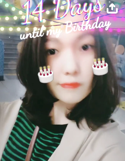 Bday Countdown Birthday Snapchat Lens Filter